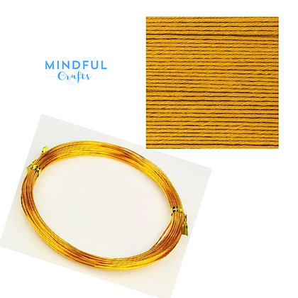 Knitted Wire word wall art refill pack - Mustard