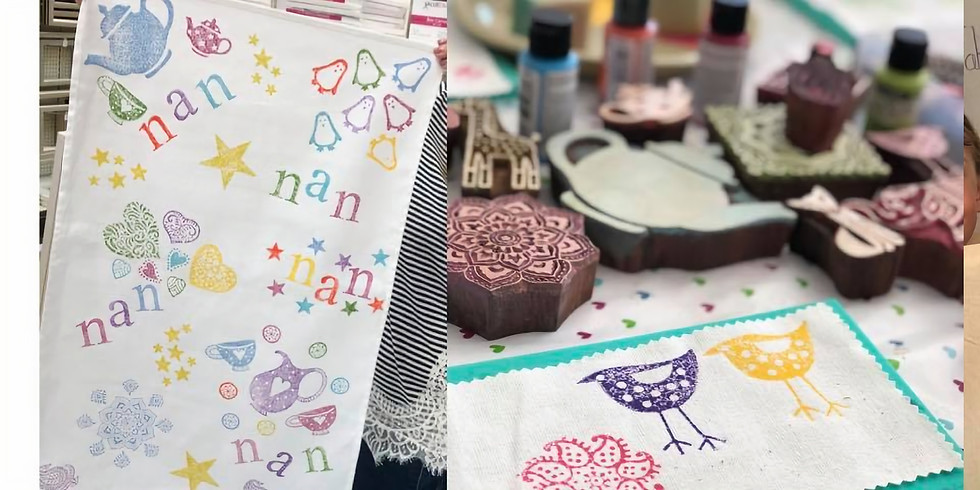 Block printing workshop at The Chocolate Shed