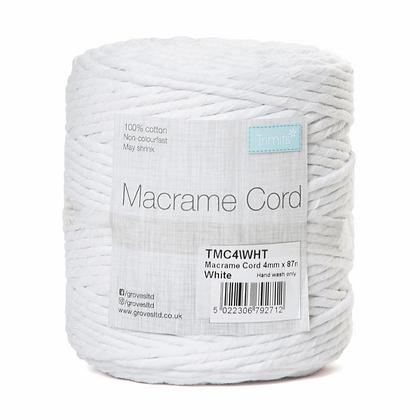 Trimits TMC4\WHT Macramé Cord: 87m x 4mm: 0.5kg: White