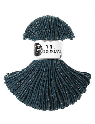 Bobbiny BRAIDED CORD 100M Golden Peacock Blue