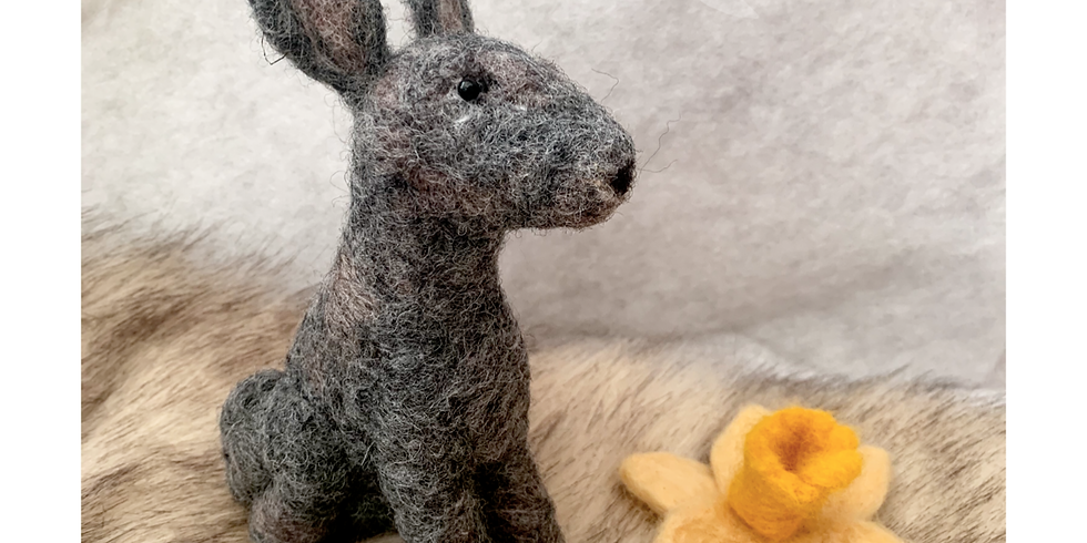 Easter Hare Needle Felting workshop at Changes Coffee Shop