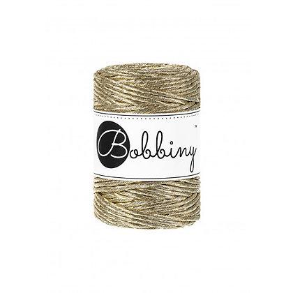 Bobbiny Single Twist Gold 3mm cord