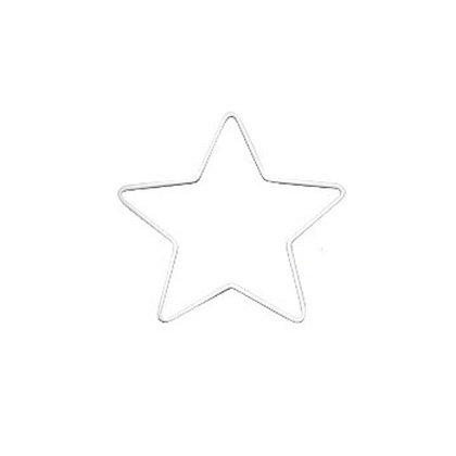 WHITE METAL STAR - 15cm or 25cm