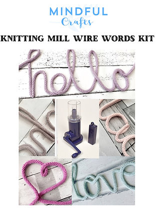 Knitting Mill Wire Words kit