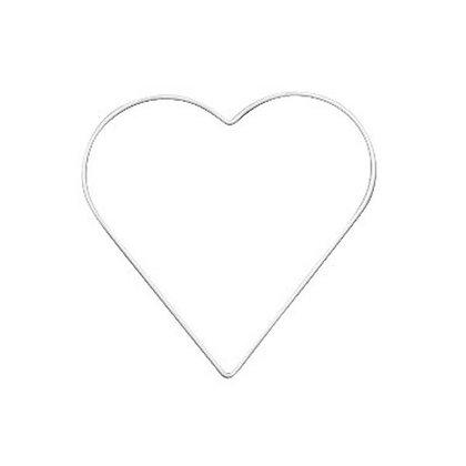 METAL HEART WHITE 20 CM