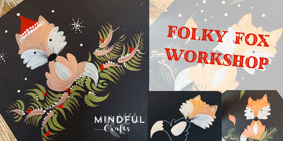 The Fabulous Folky Fox workshop at Hobbycraft, Solihull