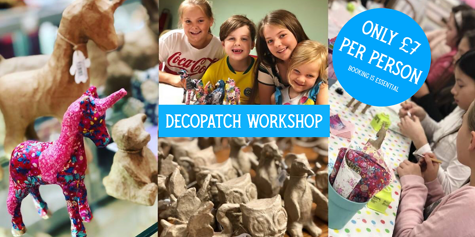 Decopatch workshop at Changes Coffee Shop 🌟🌟ONLY £7🌟🌟