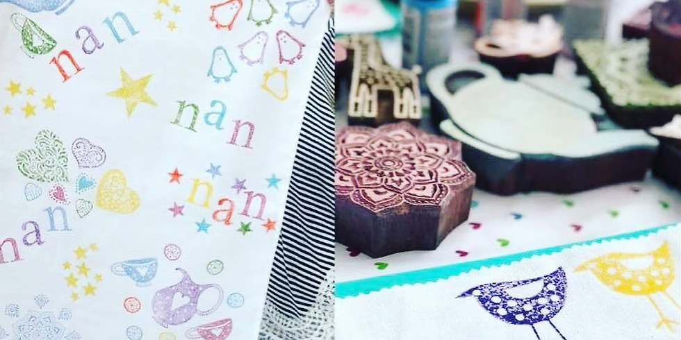 Traditional Indian Blockcraft workshop at The Core, Solihull