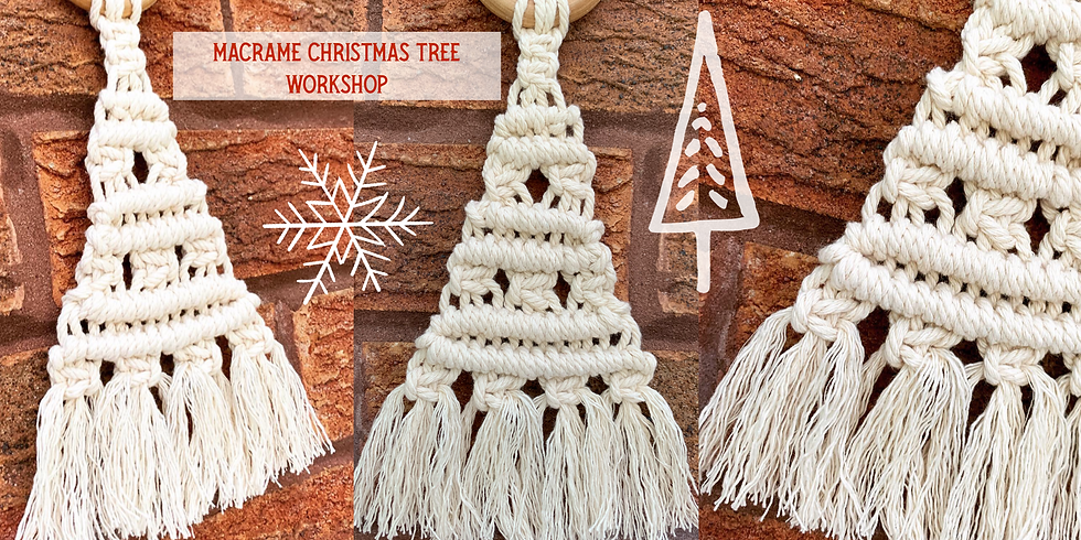 Macrame Christmas Tree workshop at Changes Coffee