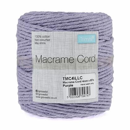 Trimits TMC4\LLC Macramé Cord: 87m x 4mm: 0.5kg: Lilac