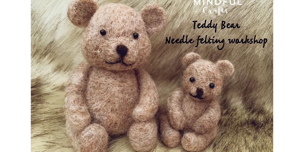 Teddy Bear needle felting workshop at The Creative Coffee Hub