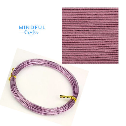 Knitted Wire word wall art refill pack - Mauve