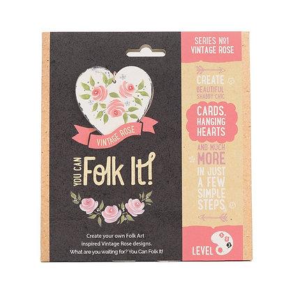Folk it - Series No. 1 Vintage Rose Kit
