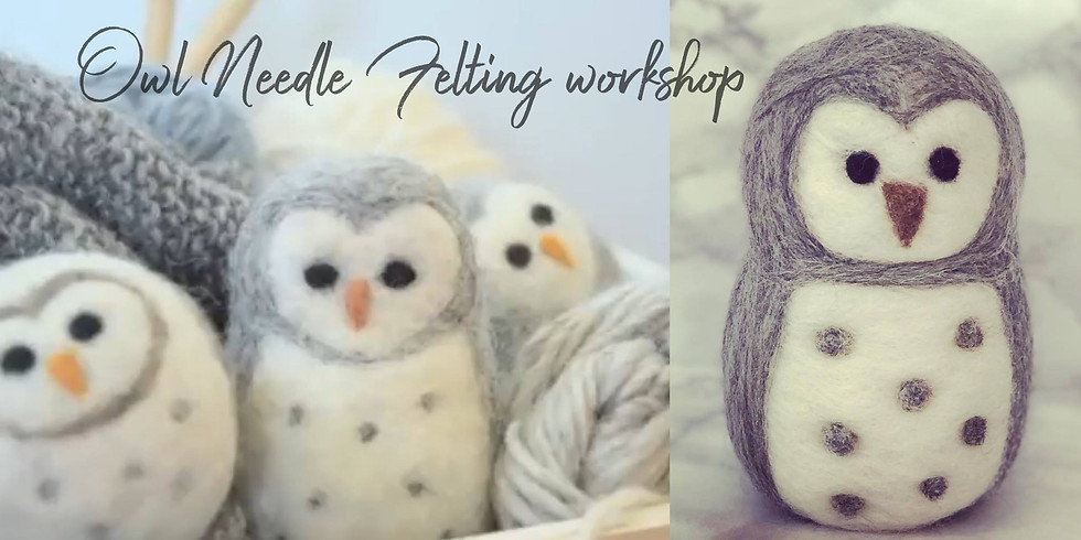 Owl Needle felting at The Core, Solihull