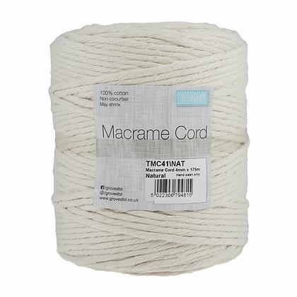 Trimits TMC41 Macramé Cord: 175m x 4mm: 1kg: Natural