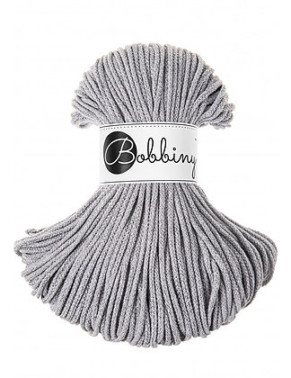 Bobbiny BRAIDED CORD 100M Silvery light grey