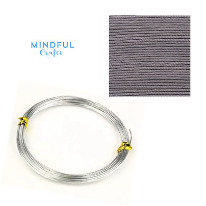 Knitted Wire word wall art refill pack - Mouse grey