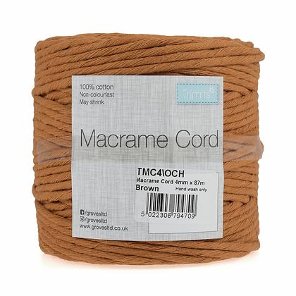 Trimits TMC4\OCH Macramé Cord: 87m x 4mm: 0.5kg: Ochre