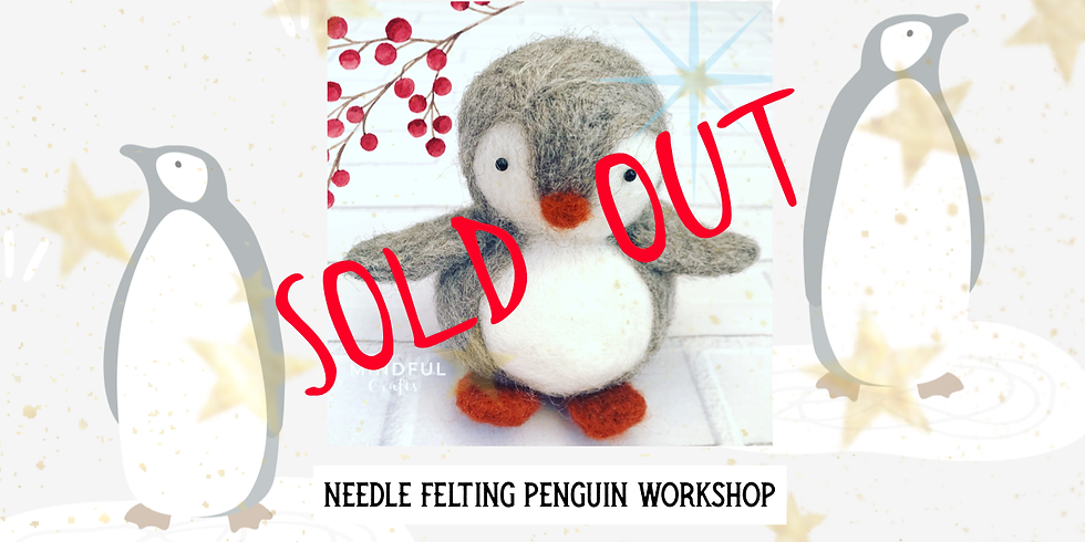 Needle Felting Penguin workshop at Hobbycraft, Solihull