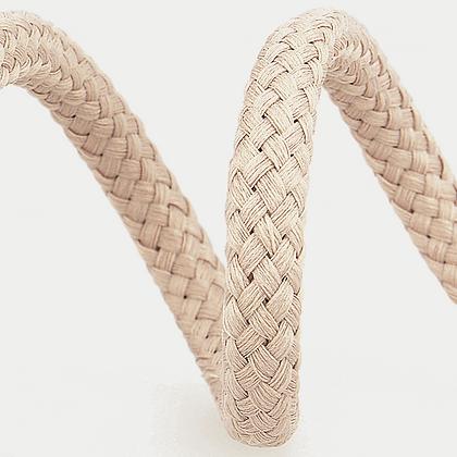 Stephanoise Macramé Cord: Braided: 15m x 8mm: Beige