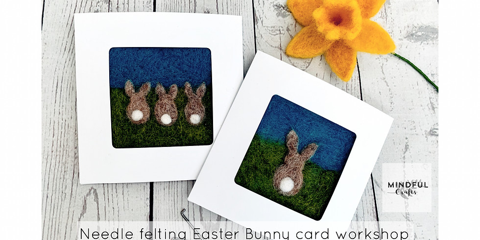 Needle felt Easter Bunny card workshop at Changes Coffee