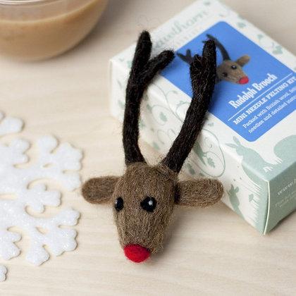 Rudolph Brooch Needle Felting Kit - Hawthorn Handmade