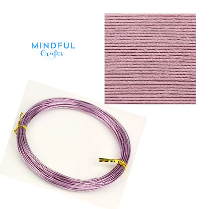 Knitted Wire word wall art refill pack - Violet