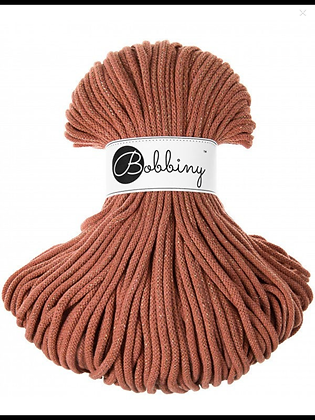 Bobbiny BRAIDED CORD 100M - Golden Terracotta