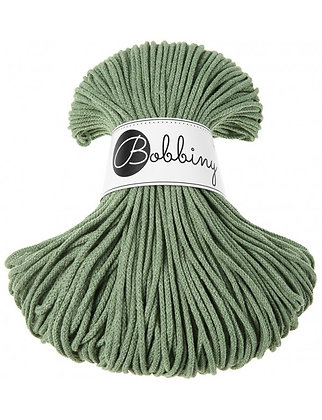 Bobbiny BRAIDED CORD 100M Eucalyptus Green
