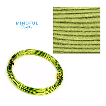 Knitted Wire word wall art refill pack - Pistachio
