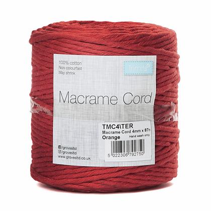 Trimits TMC4\TER Macramé Cord: 87m x 4mm: 0.5kg: Terracotta