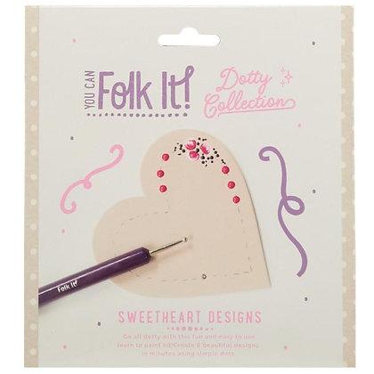 Folk It Dotty Collection - Sweetheart Design
