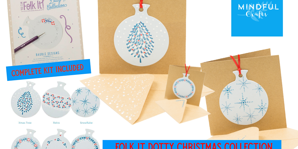 Folk It Dotty Christmas Collection - complete KIT INCLUDED  (