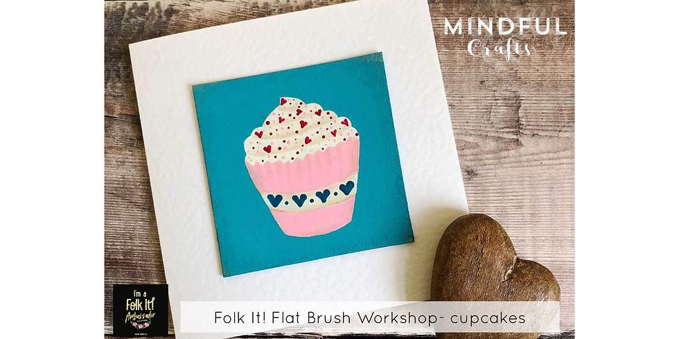 Folk It! Cupcakes workshop at The Creative Coffee Hub