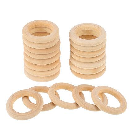 Craft Ring: Wooden: Round: 5.5cm Diameter -  Pack of 5