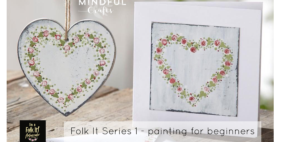Folk It series 1 painting for beginners at Bumbles, Studley