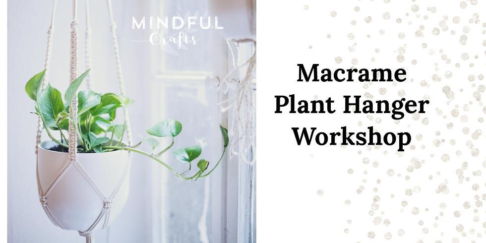 Macrame plant hanger workshop at Hobbycraft