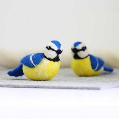 Blue Tits Needle Felting Kit - Hawthorn Handmade