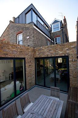 Zinc dormer brick & glass extensions Chsiwick