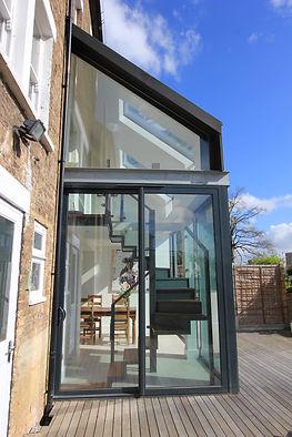 Glazed extension Lewisham