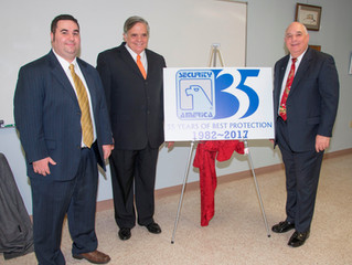 Security America Celebrates 35 Years of Business and Unveils Special Logo