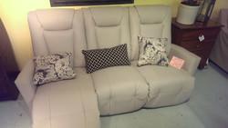 Elran Leather Electric recliner Sofa