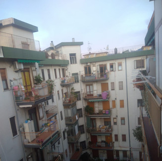 Salerno: From my balcony I am overlooking a city under siege