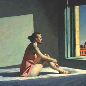 The window girl with the melancholic gaze