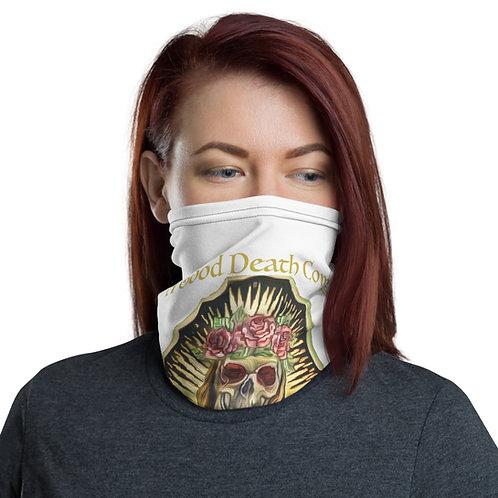 Santa Muerte Facemask/ Neck Gaiter Life White