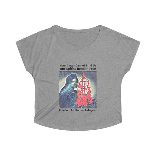 Cages Cannot Bind Us Fundraiser Women's Tri-Blend Dolman