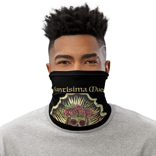 Santa Muerte Facemask/ Neck Gaiter Prayer Black