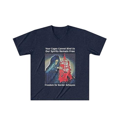 Cages Cannot Bind Us Fundraiser Men's Tri-Blend V-Neck T-Shirt