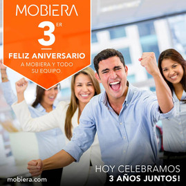 MOBIERA, 3 years together.