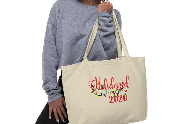 Holidazed 2020 Large organic tote bag